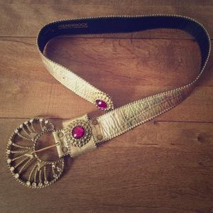 Vintage Leatherock Belt w/ Swarovski Crystals